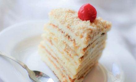 Быстрый торт с заварным кремом на сковороде