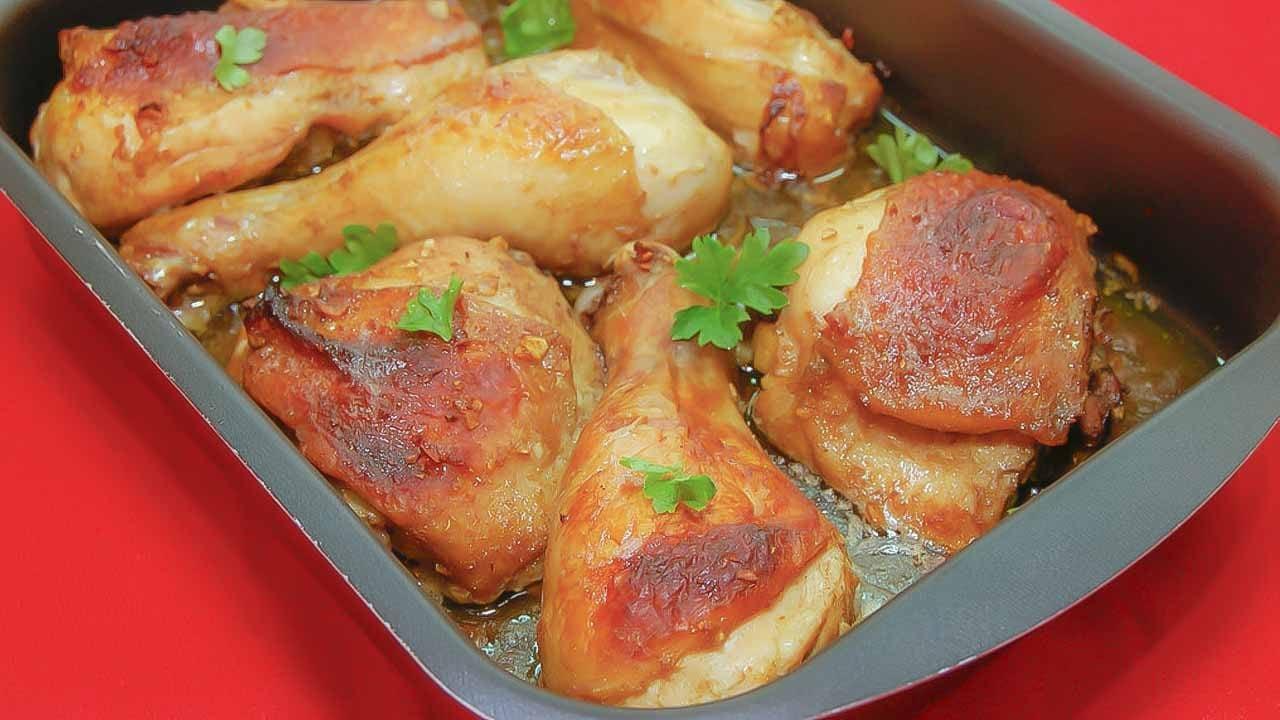Запеченная курица в горчично-соевом маринаде